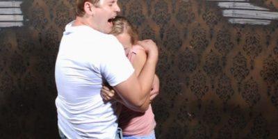 FOTOS: ¡Para reírse! Pasan tremendo susto en casa embrujada
