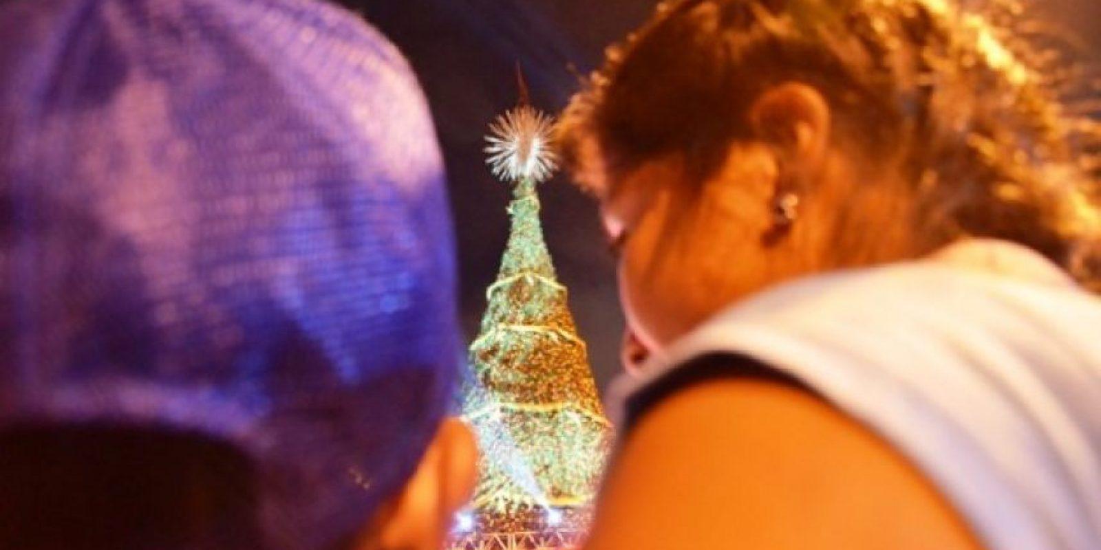 El árbol de la Gallo se encendió el fin de semana pasado Foto:Publinews