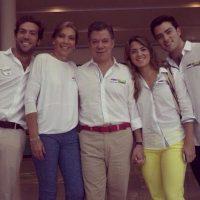 El Presidente Santos y familia Foto:Facebook: Juan Manuel Santos