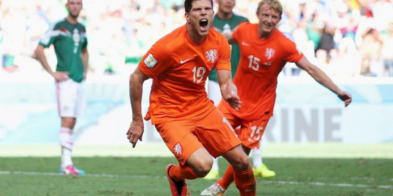 El penal de la victoria holandesa lo anotó Klaas Jan Huntelaar Foto: Getty