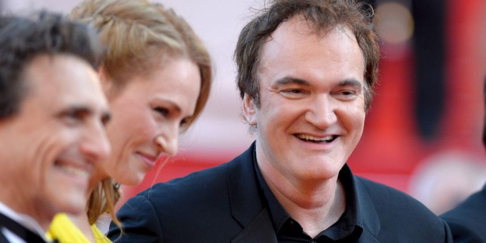 Junto a otros entusiastas del cine, entre ellos Roger Avary Foto:Getty Images