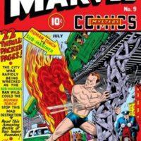 En los inicios de las historietas la Antorcha Humana aparecía luchando en solitario contra villanos y su enemigo, Namor. Foto:Marvel Comics