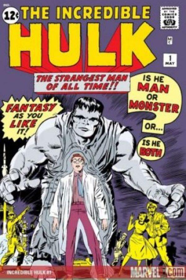 Hulk apareció por primera vez en su propia historieta, The Incredible Hulk, en mayo de 1962. Es uno de los personajes que creo Stan Lee Foto:Marvel Comics