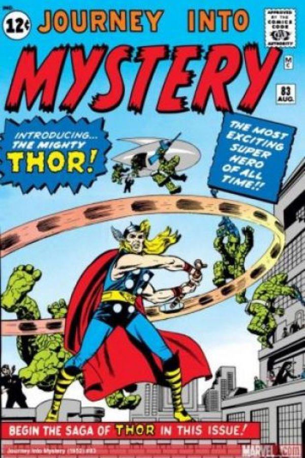 Insipirado en el dios nórdico del mismo nombre, sus historias suelen mezclar temas mitológicos y fantásticas con la ciencia ficción y el género superheroíco. Apareció por primera vez en agosto de 1962. Foto:Marvel Comics