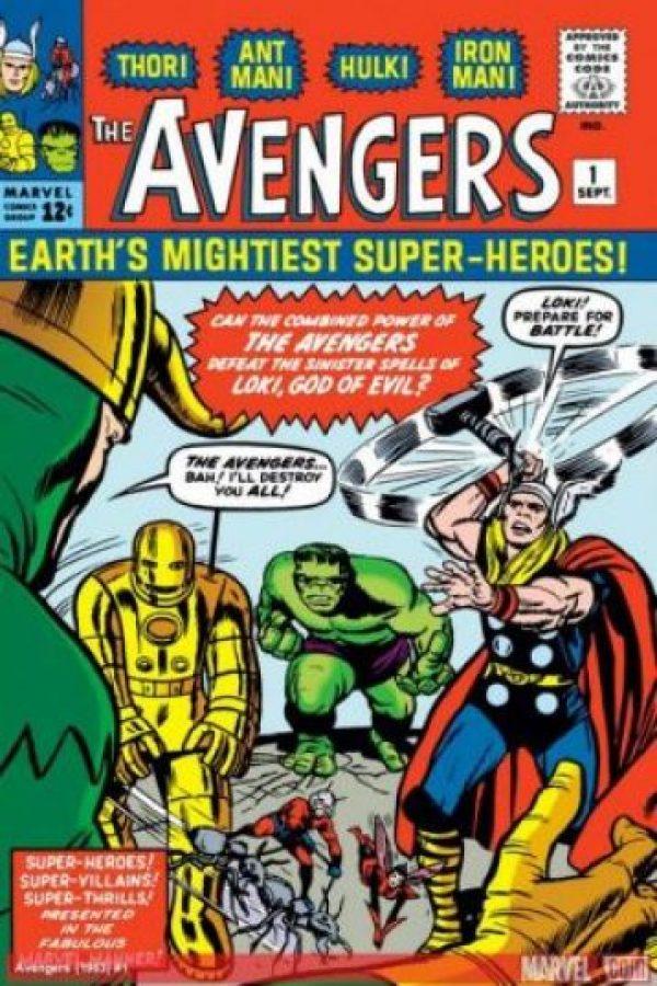 Los Avengers no siempre fueron el séquito de héroes que vemos en la pantalla grande. En un tiempo solo tres de los que hoy conocemos formaban parte de los Avengers. Foto:Marvel Comics