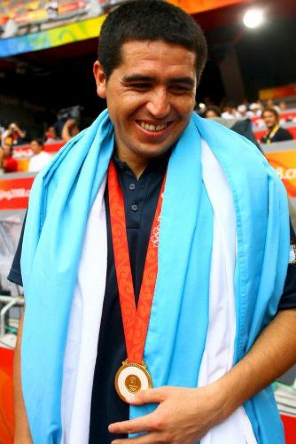 """Después del Mundial 2006, Juan Román renunció a """"la Albiceleste"""" por las críticas en su contra. Regresó en 2007 y los Juegos Olímpicos 2008, pero no ha vuelto a jugar con el combinado sudamericano. Foto:Getty Images"""
