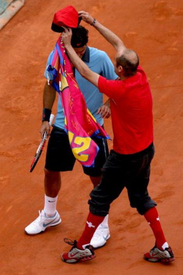 Federer lo tomó con tranquilidad y no se inmutó ante el español. Foto:Getty Images