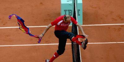 En 2009, Jimmy Jump hizo de las suyas en el torneo de tenis Roland Garros. Foto:Getty Images