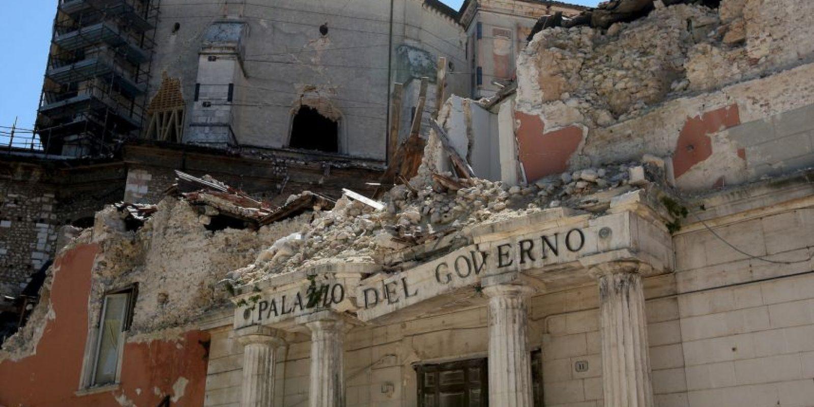 Italia recibió ayuda internacional para poder reconstruir la zona afectada. Foto:Getty