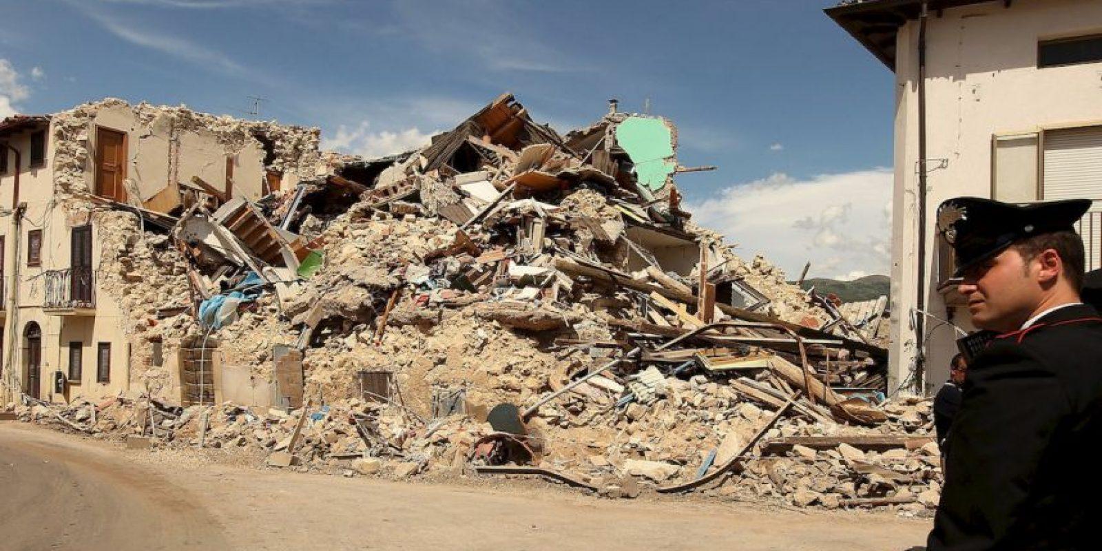 El sismo ocurrió el 6 de abril de 2009. Foto:Getty