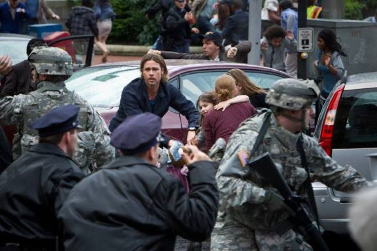 "Brad Pitt en ""World War Z"" Foto:Facebook"
