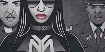 "Minaj como una dictadora en el video ""Only"" Foto:YouTube/Nicki Minaj"