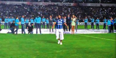 En su presentación con Querétaro Foto:Facebook: Ronaldinho Gaucho