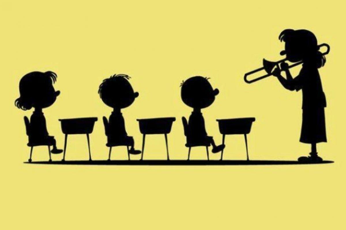 La maestra Othmar tiene voz de corneta Foto:Twitter