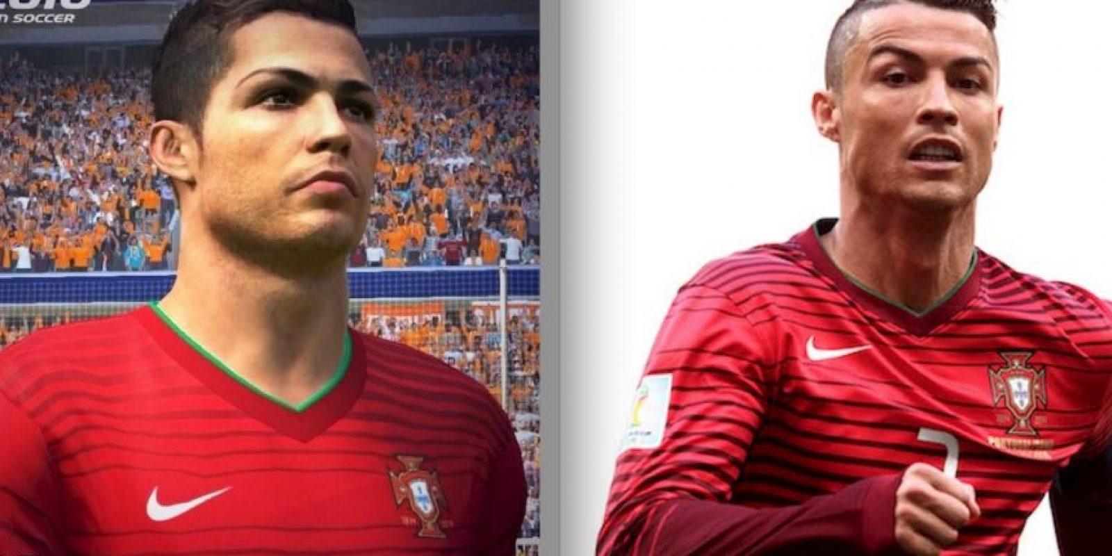 Estas son las diferencias entre los futbolistas del PES 2015 y la vida real. Foto:Konami / Getty Images