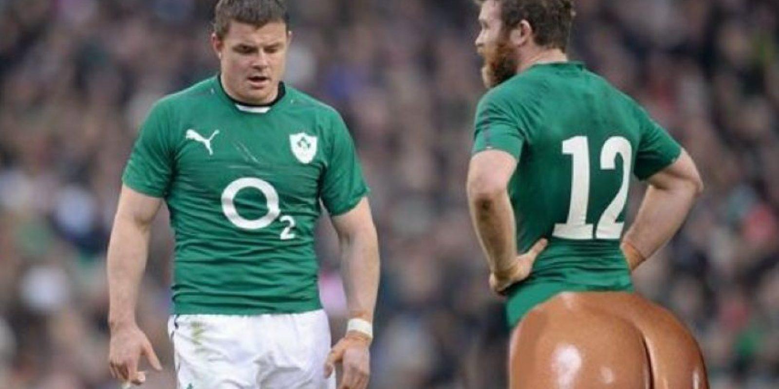 Los glúteos de Kim llegan hasta el rugby Foto:Twitter