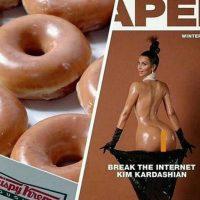 Otros señalaron el parecido de Kardashian con donas Krispy Kreme Foto: Vía Twitter
