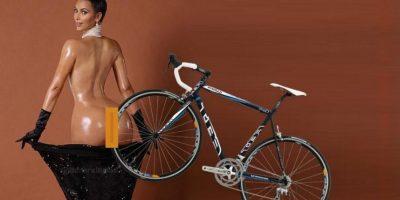 Hubo quienes sugirieron que era posible estacionar una bicicleta en el trasero de Kardashian Foto:Vía Twitter