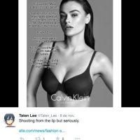 """Ella solo expresó que sí la consideraron """"grande"""" en otras marcas Foto:Twitter"""
