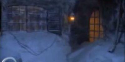 La casa de los Sinclair queda cubierta de nieve. Foto:ABC