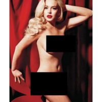 En 2011, Lindsay Lohan recibió un millón de dólares para posar desnuda en Playboy. Foto:Vía Playboy