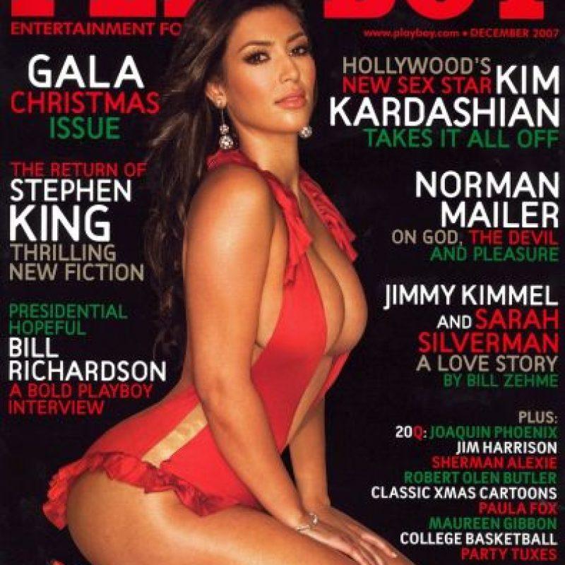 "Antes, Kardashian había aceptado 110 mil dólares de ""Playboy"" para posar sin ropa. Foto:Vía Playboy"