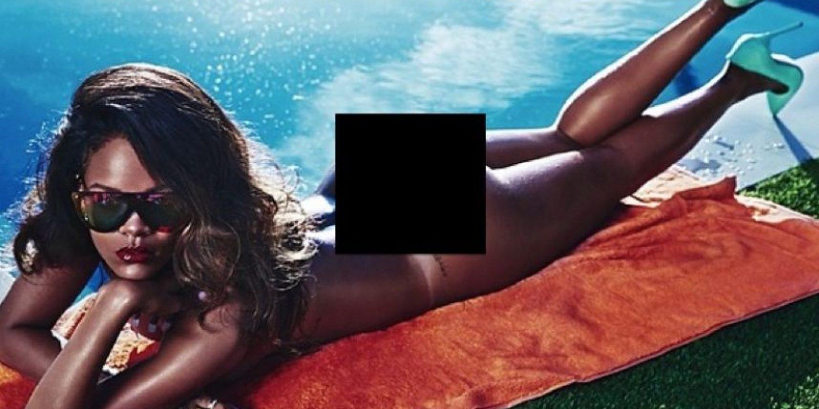 Hasta ahora, la cantante de Barbados no se ha desnudado para esa revista, pero lo ha hecho para otras. Foto:Lui Magazine / BadGalRiri vía Twitter