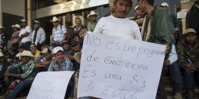 Galería: Reforestadores exigen salarios junto a finanzas