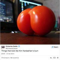 Inclusive se comparó a frutas con la foto de la actriz de reality Foto:Agencias