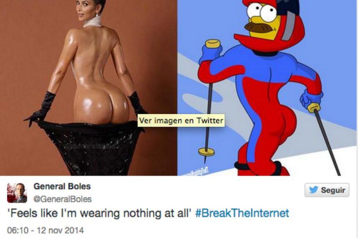 También se le comparó con el vecino de Homero de la serie animada The Simpson Foto:Agencias