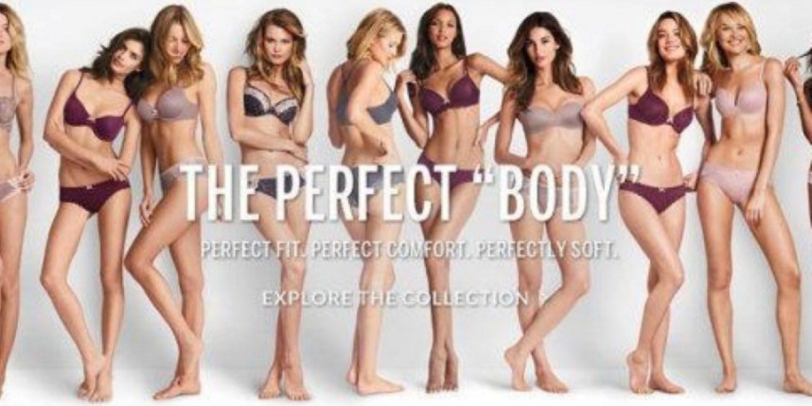 Muchas internautas se enojaron con la marca por promocionar ideales errados de belleza Foto:Victoria´s Secret