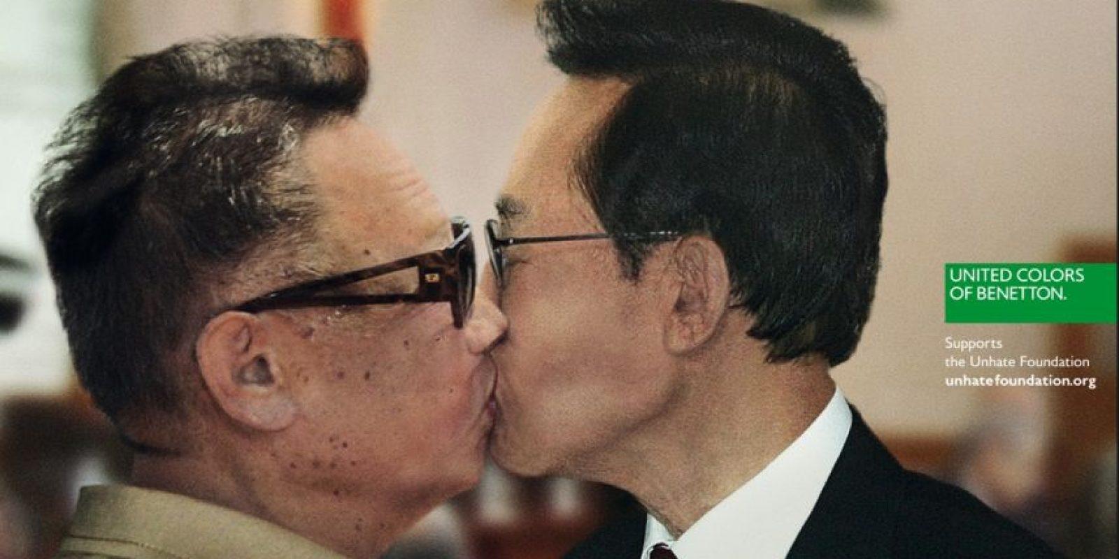 Mostraban a todos los politicos besándose Foto:Benetton