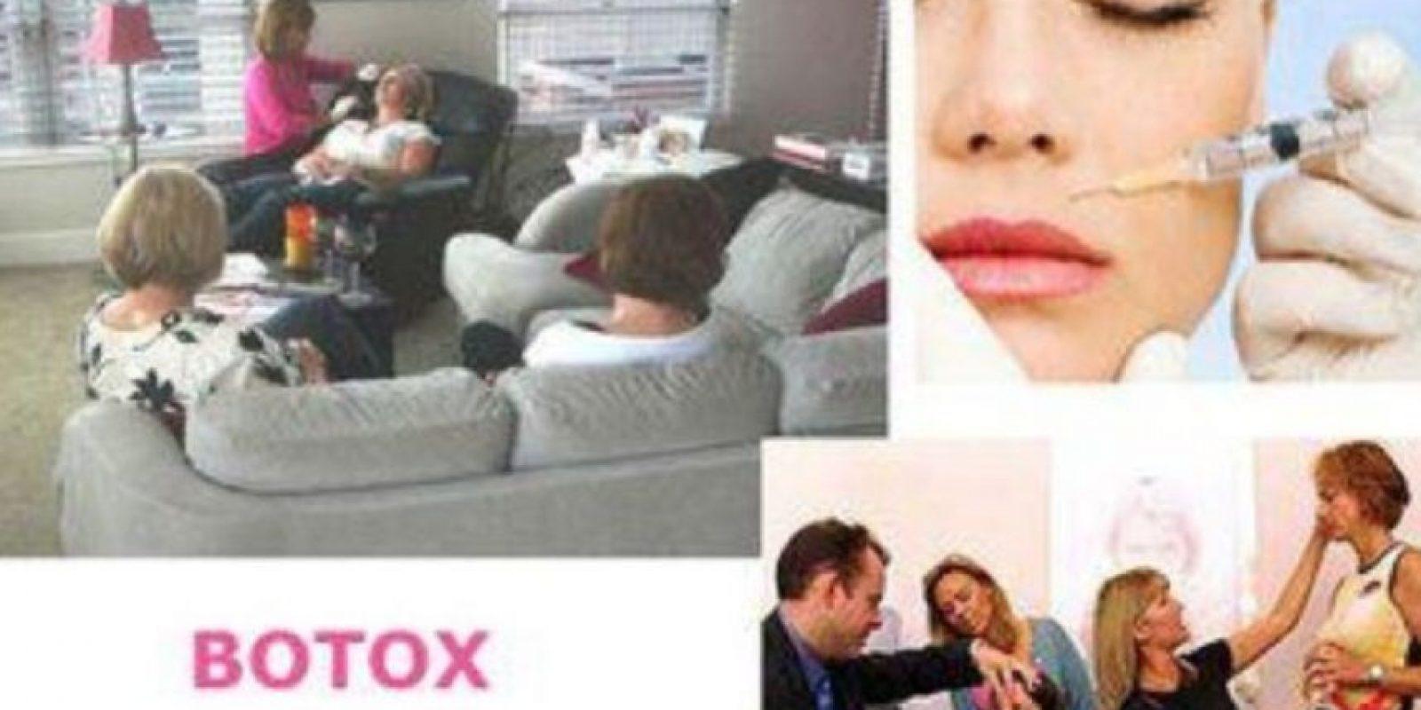 Dentro del grupo de amigas, el invitado primordial es el especialista. Foto:Facebook.com/pages/Botox-Fillers-party