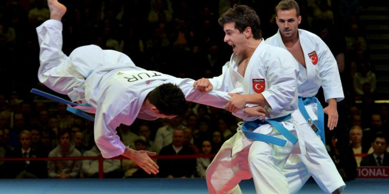 Así se vivió la lucha por el tercer lugar, en el Campeonato Mundial de Karate Foto:AFP
