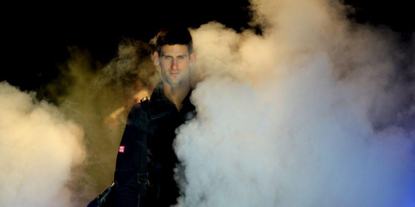 Novak Djokovic venció a Tomas Berdych en el Masters de Londres Foto:AFP
