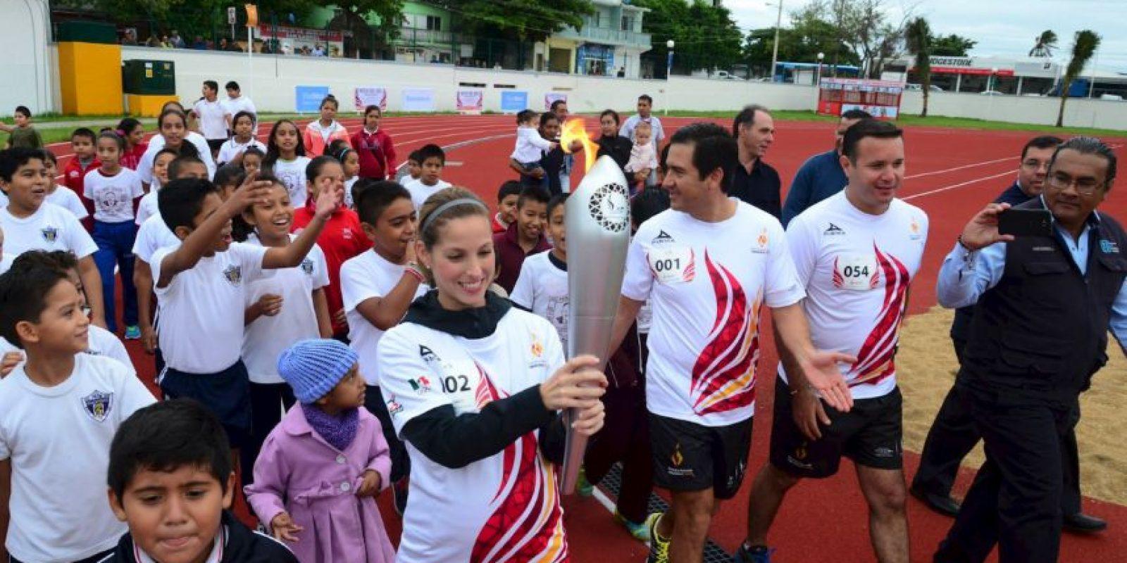 El fuego de los Juegos llegó a la sede Foto:Facebook: JCC Veracruz2014