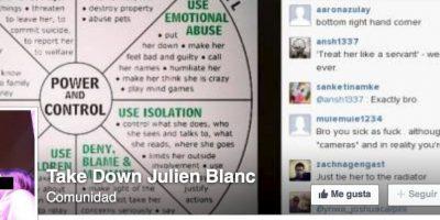 "Se llama ""Take Down Julien Blanc"" Foto:Facebook"