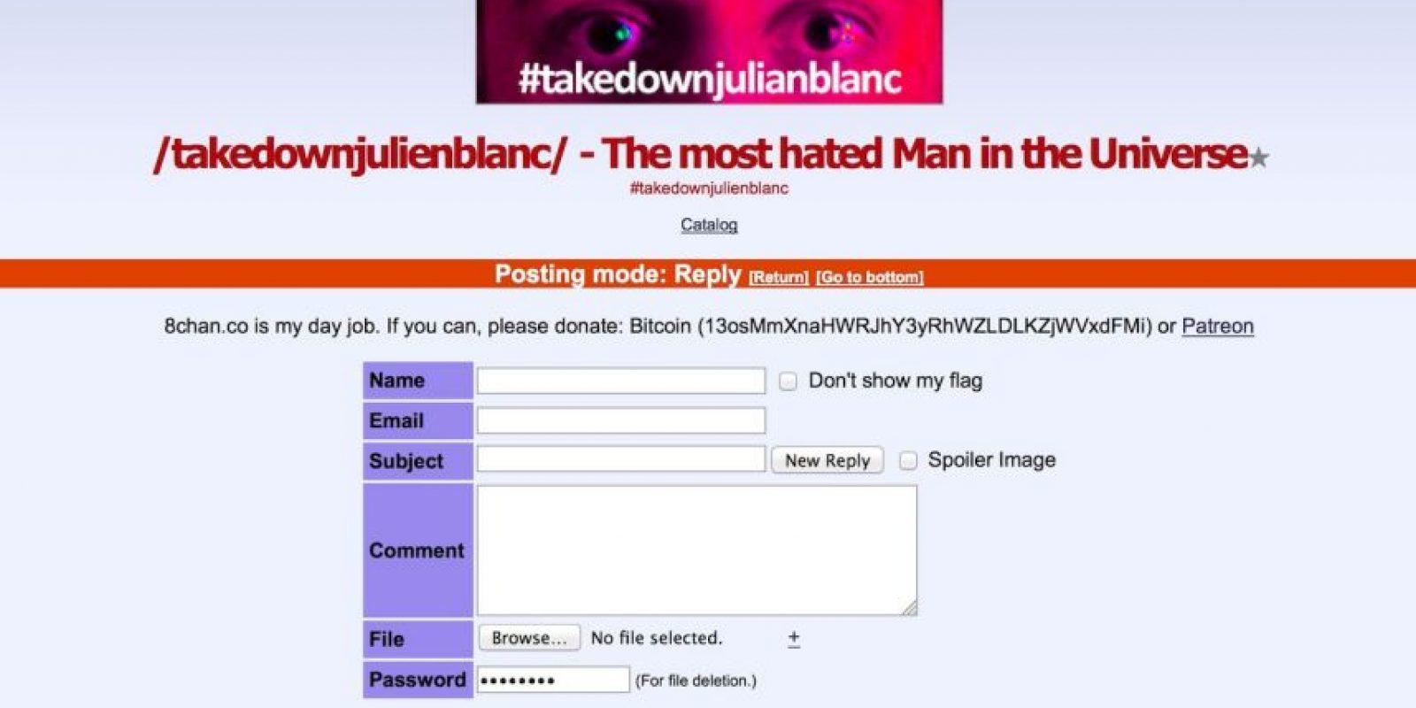 También hay lugares en la web donde se recopila evidencia contra él. Foto:Facebook