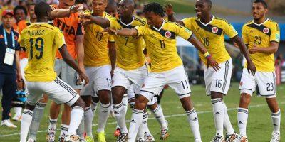 Es uno de los futbolistas que bailan, cuando Colombia anota goles Foto:Getty