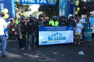 Guatemaltecos participan en las actividades para conmemorar Día Mundial en Recuerdo a las Víctimas de Tráfico. Foto:PNC, Tránsito