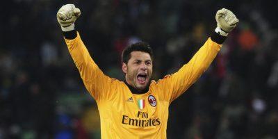 En el AC Milán también tuvo competencia en Christian Abbiati. Foto:Getty Images