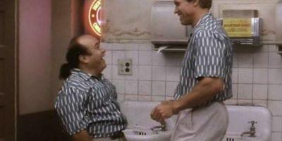 En la ficción, DeVito es el hermano gemelo de Schwarzenegger, Vincent Benedict Foto:Facebook/Twins