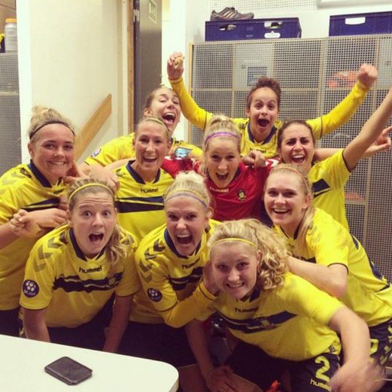 Las chicas del Brondby vencieron 3-2 al Fotuna Foto:Instagram: @theresanielsen8