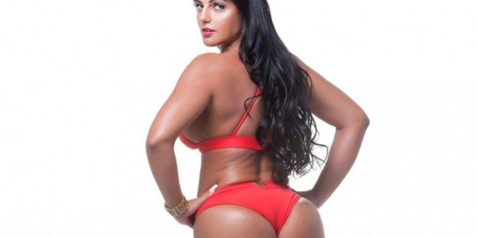 Ella llegó al concurso en sustitución de Michelle Docio Foto:Missbumbumbrasil.com.br