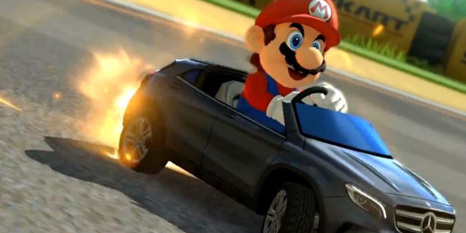 Mario compitiendo en un Mercedes-Benz. Foto:Mercedes-BenzTV