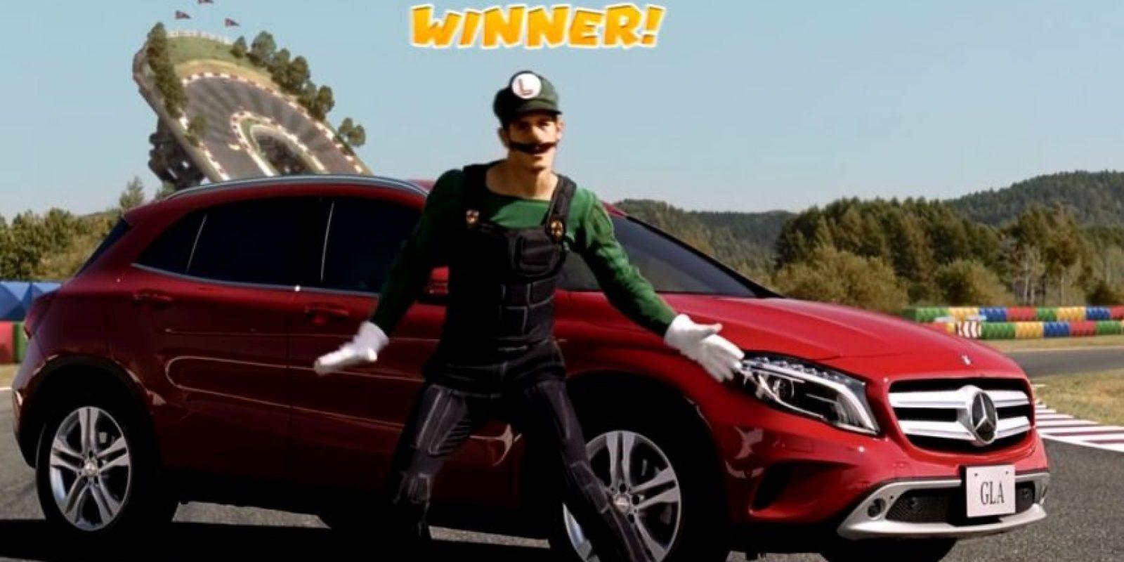 Así sería Luigi en la vida real. Foto:Mercedes-BenzTV