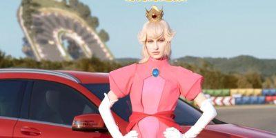 Así sería la Princesa Peach en la vida real. Foto:Mercedes-BenzTV