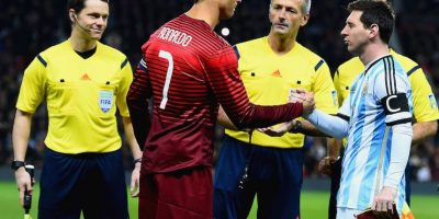 CR7 y Messi después del volado. Foto:Getty Images