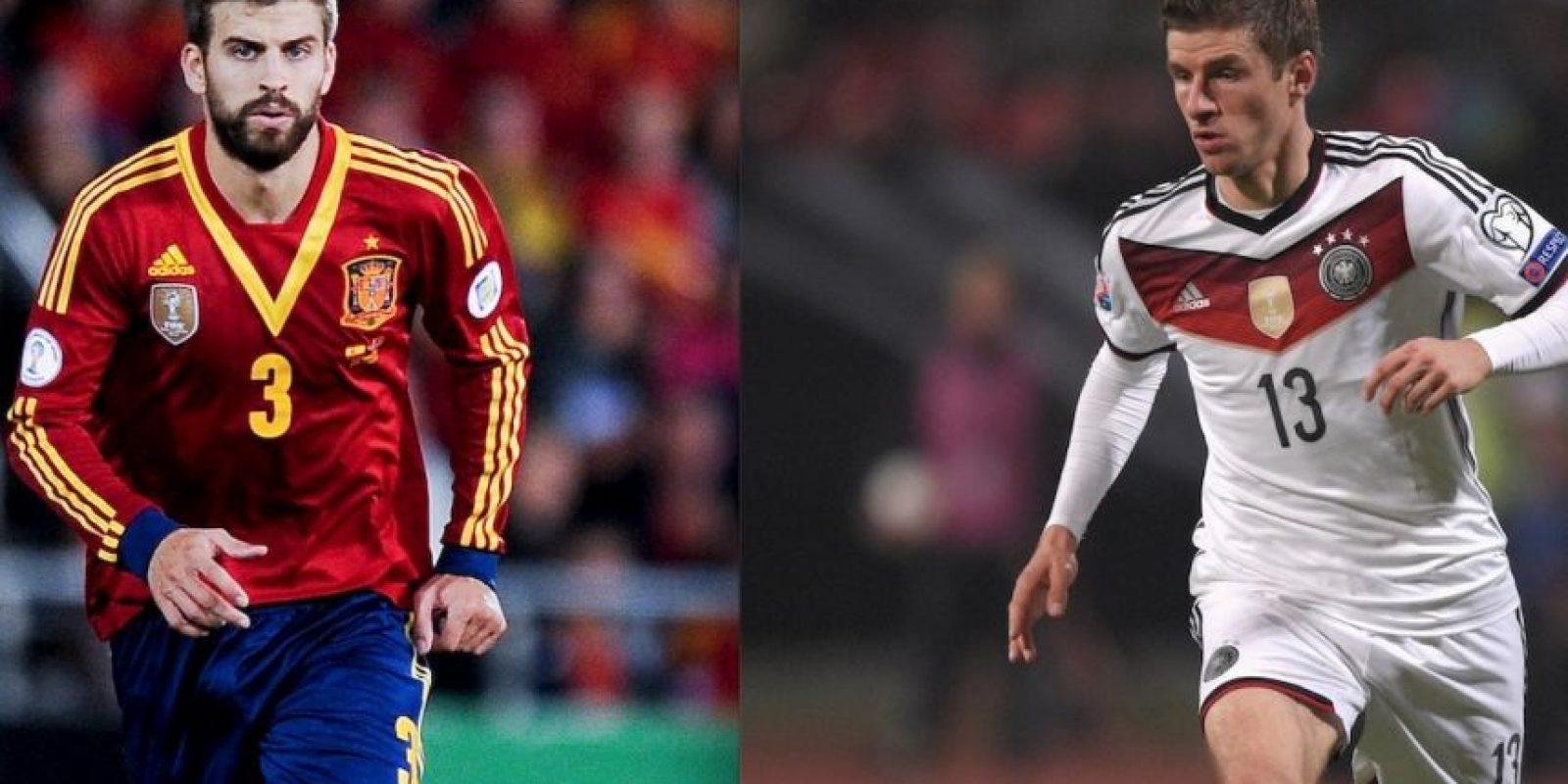 Españoles y Alemanes se enfrentan en partido amistoso. Foto:Getty Images