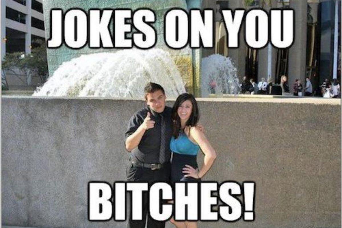 Él se defendió diciendo que se casaría con ella, pero resultó ser mentira Foto:Cheezburger